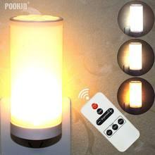 LED Controle Remoto Inteligente Luz Da Noite Plug-in Dimmer Lâmpada de Mesa Lâmpada de Parede de Luz Luz Do Armário Da Cozinha 10- nível de Brilho
