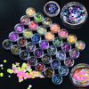 35 Bottle Sets Mixed 1 3mm Plastic Thin Round Sticker Nail Art Mini Paillette Nail Decorations