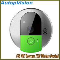 Vstarcam Doorcam C95 IP Door Camera Eye HD 720P Wireless Doorbell WiFi Via Android Phone Control