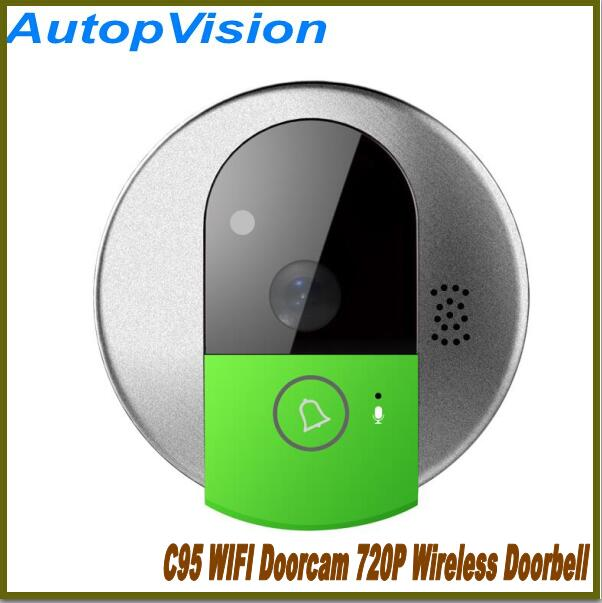 C95 Door camera C95 IP Door Camera EYE HD 720P Wireless Doorbell WiFi Android Phone Control Video Peephole Door Damera wifi us eu uk au plug ip door camera eye hd 720p wireless doorbell wifi video peephole wifi door camera 100 240v ac 75 73 27mm