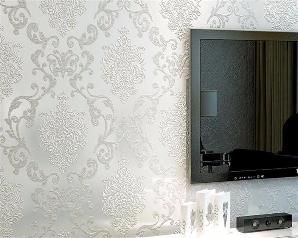 US $26.95 23% di SCONTO|Beibehang decorazione della Casa carta da parati  camera da letto soggiorno parete video di lusso viola giallo rotolo di  carta ...