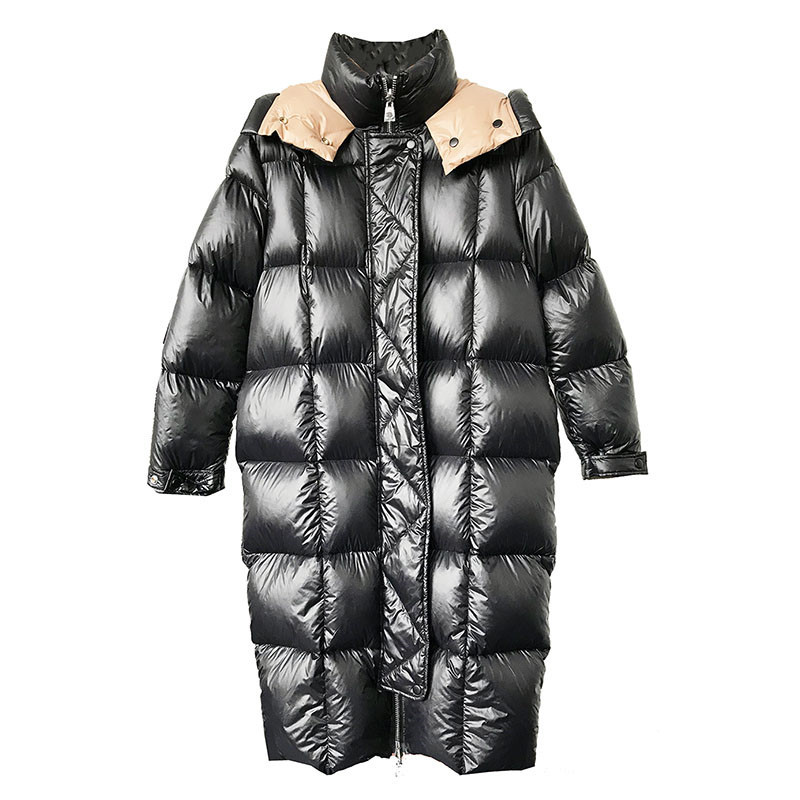 2018 Winter   Down   Jacket Women High quality White duck   down     Coat   Thicken Warm Jacket Female Plus size Hooded Long   Down     Coats   2263