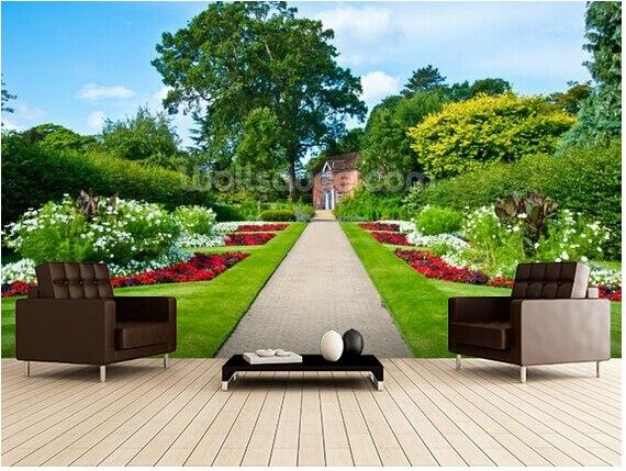 Benutzerdefinierte Land Dekorative Tapete, Englisch Land Garten, 3d  Landschaft Tapete Für Wohnzimmer Das Schlafzimmer Einstellung Wand In  Benutzerdefinierte ...