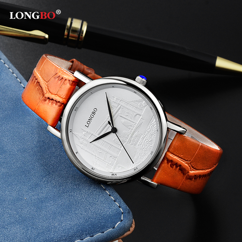 Fashion Ladies Luxury Quartz Watch Casual Fashion Leather Watches Men Women Couple Watch Sports Wristwatch LONGBO 80035 original lamp with housing et lae900 hs120ar10 4d for pt ae900 pt ae900u