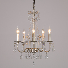 Vestidor de pasillo vintage lámpara de Cristal de plata candelabro Cristal Lamparas dormitorio candelabro decoración del hogar iluminación Avize