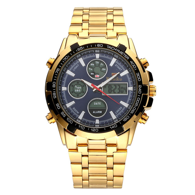 Waterproof Gold Stainless Watch 4