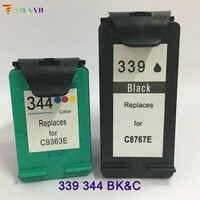 Vilaxh compatible cartouche d'encre de remplacement pour hp 339 344 Photosmart 2575 2610 2710 8050 8150 8750 Deskjet 460 5740 5940 6540