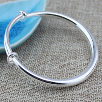 GAXIU The smooth surface of 999 sterling-silver-jewelry bracelet The adjustable bracelet&Children 999 silver jewelry bracelet