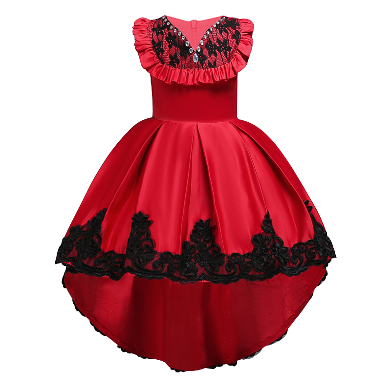 Kids Girls Party Dress Summer long tail Flower Formal Wedding Dresses Girls Princess Ball Gown Vestidos for 2-12Y Girls clothes dresses for girls high quality children dress long sleeve kids clothes summer dress flower girls dresses for party and wedding