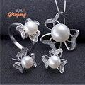 [Yinfeng] Incrível preço da jóia da forma real de 100% natural de água doce conjunto de jóias de pérolas para as mulheres branco/rosa/pérola roxa