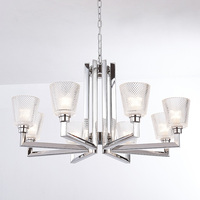 Led Glass K9 Crystal Chandeliers 110 220v Modern Crystal Chandelier With Shade E27home Lighting Bed Room