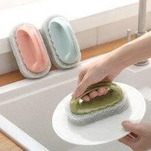 Clean Brush Sponge Bathroom Handy Magic Eraser Bath Tiles Wash Pot  Accessories Kitchen Cleaning 1PC
