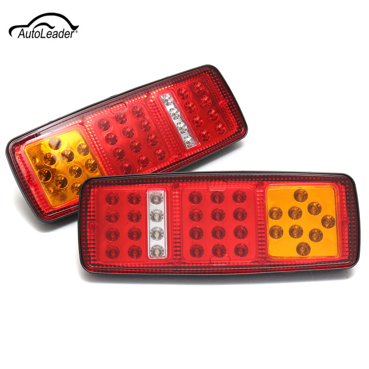 2Pcs 33LED Car Trailer 12V Tail Reverse Light Truck Bus for Van Stop Rear Tail Indicator Lights Reverse LED Lamp Waterproof