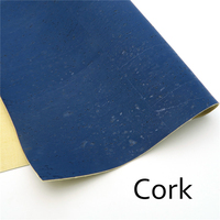 Cork Fabric 70 50cm 27 5 19 6inch Blue Cork Leather Portuguese Natural Material For Handmade