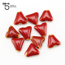 10mm Big Hole Making Accessories Ceramic Beads For Jewelry Bracelet Material  Loose Mix color Triangle Porcelain T151