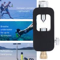 Black Adapter Underwater Mini Diving Tank Mini Diving Euipment Durable Freedom Breath Water Lung Adapter Pressure