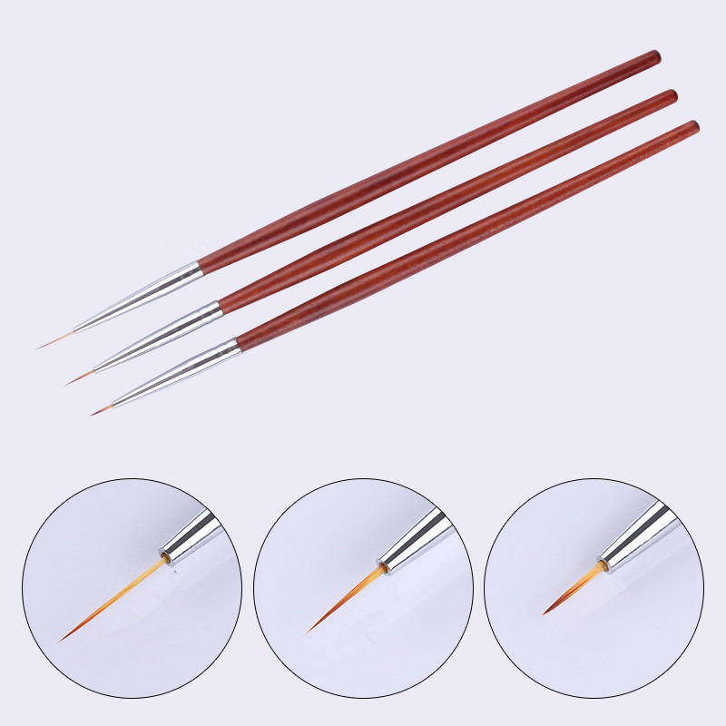 Drawing Lines In Crystal Reports : Pcs uv gel brush kit mm painting liner
