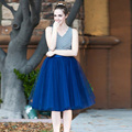 6 Layers tulle Skirt Womens Bridesmaid skirt party skirt  Knee Length Plus Size adult tutu BSQ002