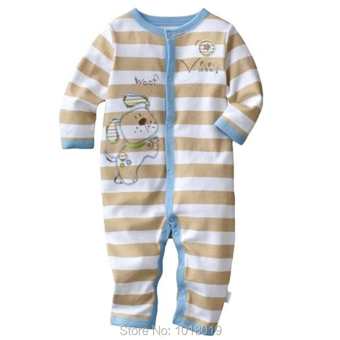 3M~24M New 2017 Brand Quality 100% Cotton Newborn Baby Boys Clothing Clothes Creepers Jumpsuits Baby Romper Boys Ropa Bebe Long new 2017 brand quality 100% cotton newborn baby boys clothing ropa bebe creepers jumpsuit short sleeve rompers baby boys clothes