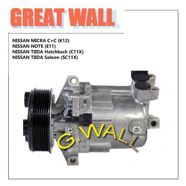 AC COMRPESSOR FOR CAR NISSAN MICRA II C+C 1.6 / MICRA II K12  / NOTE / TIIDA 1.6 92600-CJ70A 92600-CJ70B 92600-CJ700 92600-CJ71B
