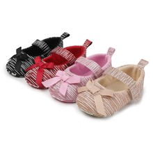 Spring And Autumn New Baby Bow Soft Female Toddler Shoes Non-Slip Comfortable Single