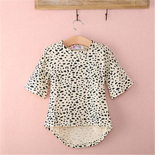 Emmababy High Quality arrival New born Baby Clothes Spring Antumn Long Sleeve Asymmetrical Leopard Dress Kids Girl