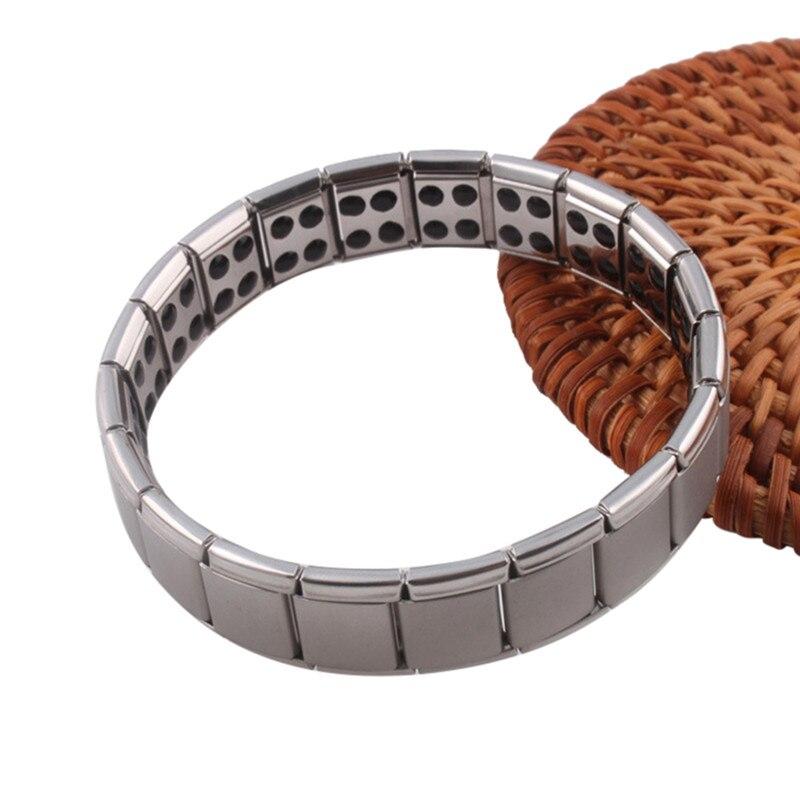 Stainless Steel Watchband Men Charm Bracelet Punk Jewelry Magnet Germanium Health Titanium Steel Bracelet & Bangles