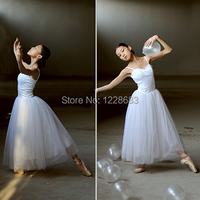 Classical Professional White Swan Lake Ballet Costume Romantic Ballet Tutu Ballet Dresses For Performance Adult Long