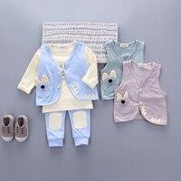 3pieces Set Girls Boy Sports Suits Cat Baby Clothes Set Autumn Spring Kids Tracksuit Girls Suit