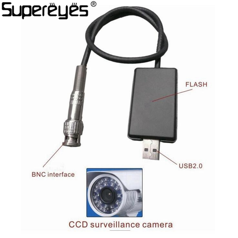 Supereyes Brand High Qulity 2M USB 2.0 Type BNC To USB Interface Surveillance Camera Analog To Digital Signal Cable Line ...