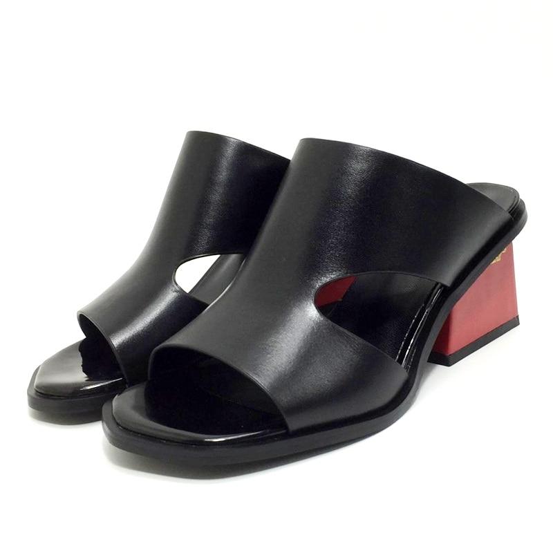 Ouvert Véritable À Partie Black Cuir Bout Femme Sandales Noir Femmes Mode Chaude Hauts D'été En Casual Talons white Chaussures Blanc De Facndinll Robe WIHYED2e9