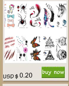 Rocooart RC2239 Body Art Water Transfer Fake Tattoo Sticker Temporary Tattoo Sticker Blue Black Wind Blown Feathers Taty Tatoo 6