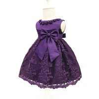 Flower Girl Dresses Birthday Infant Baby Girls Wedding Pageant 2017 Summer Princess Party Dresses Children Clothes