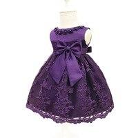 תינוקות בנות תינוק יום הולדת חתונת תחרות שמלות ילדה פרח 2017 שמלות ערב נסיכת קיץ לילדים בגדי חג המולד 0-2