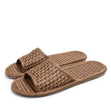 Summer Natural Bamboo Rattan Cane Grass Weaving Slippers Shoes Vine Grass Men Casual Slippers Non-slip Couples Slippers(China)