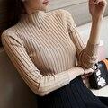 Новые моды для женщин свитер основной трикотажные рубашки женщина с длинными рукавами пуловер свитер весна осень тонкий одежда топы
