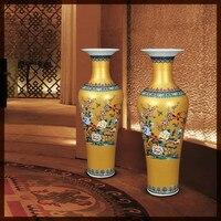 Новая классическая современная вилла отель фарфоровая ваза Цзиндэчжэнь Китайский античный цвет эмалей керамические декоративные большие