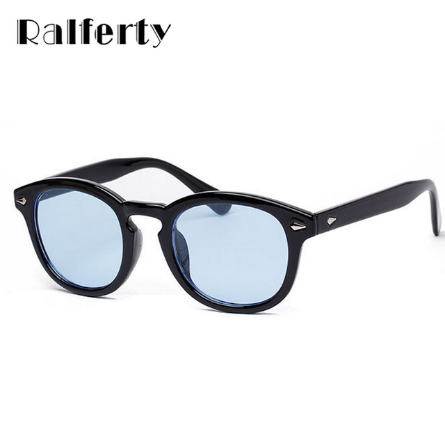 1826cc5b1d Ralferty Vintage Retro Unisex Transparent Sunglasses Men Women Brand  Designer Sun Glasses For Man Colorful Lens