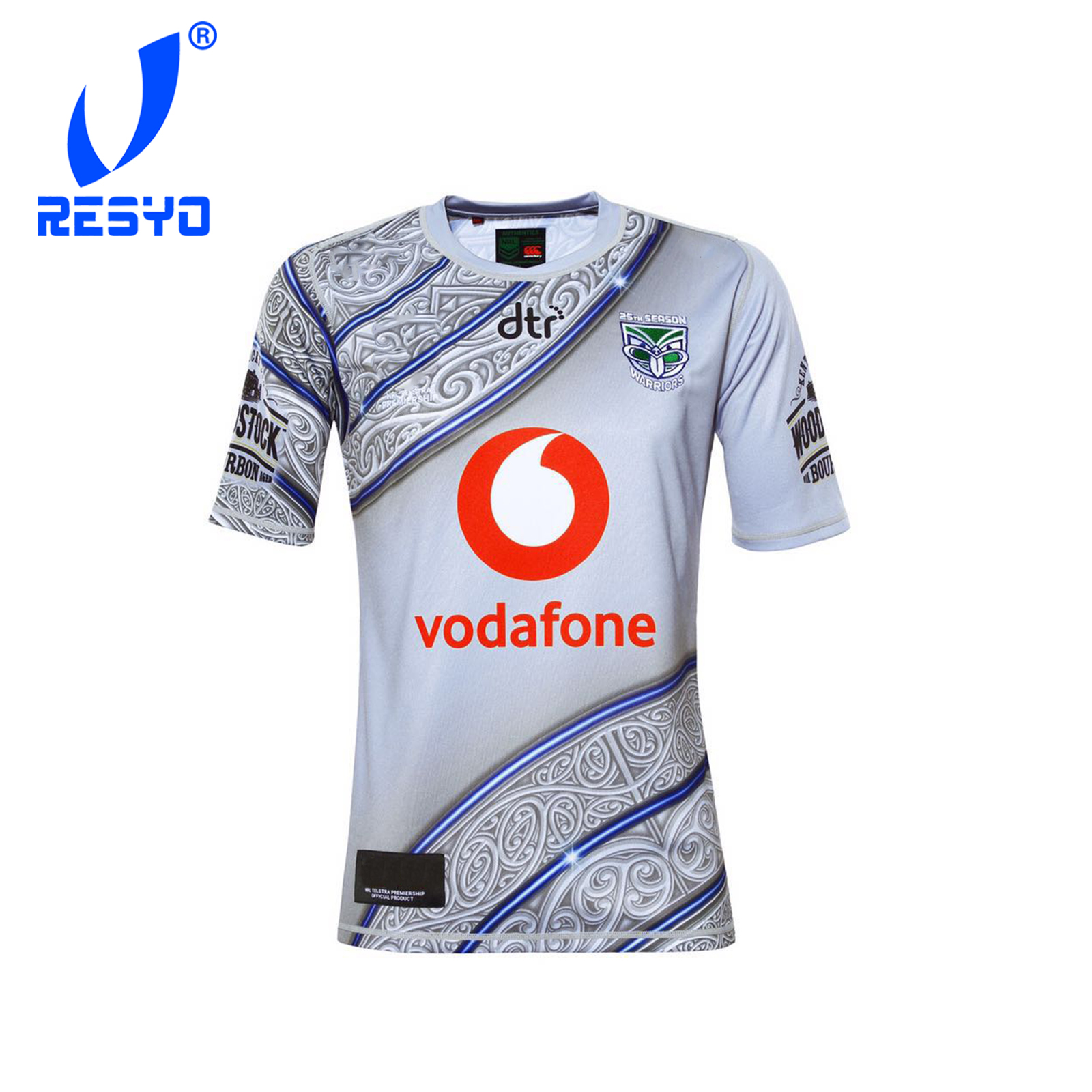 size 40 b30f7 c9c42 RESYO for Warriors 2019 Men's Replica Indigenous Rugby Jersey Sport shirt