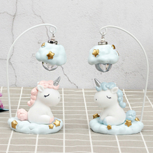 Artpad Pink Blue Cute Cartoon LED Unicorn Light for Children Kids Girl Boy Bedroom Bedside Table Lamp Night Lighting Decoration