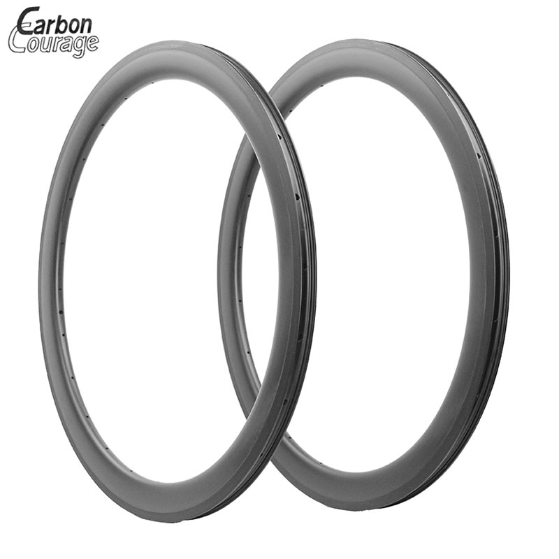 Top 650C Bicycle Carbon Rim 50mm Tubular Type 23mm Width Basalt Braking Surface Carbon Wheels Hand Build 20/24H Rims Customized
