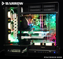 Barrow Acrylic Board Water Channel Solution kit use for IN WIN 909 Computer Case / Kit for CPU and GPU Block / Instead reservoir цена