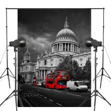 150x220cm St. Pauls Cathedral Photography Background Cloudy Day Backdrop Retro Studio Props Wall