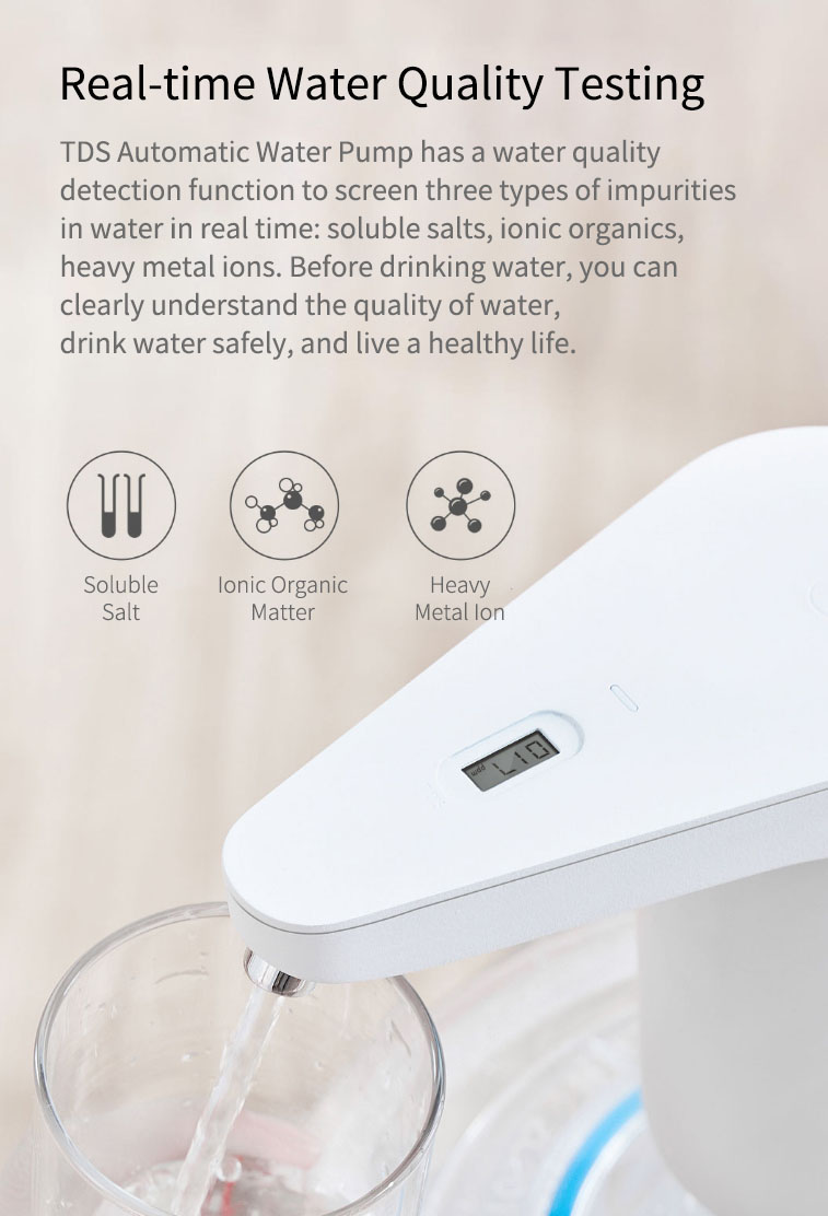 Newest Xiaomi XiaoLang Automatic Mini Touch Switch Water Pump Wireless Rechargeable Electric Dispenser Water Pump WithTDS Test (11)
