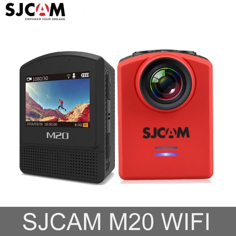 D'origine SJCAM M20 Gyro Mini Action Casque Sport enregistreur de bord caméra de recul Étanche 4 K NTK96660 16MP WiFi HD caméra d'action