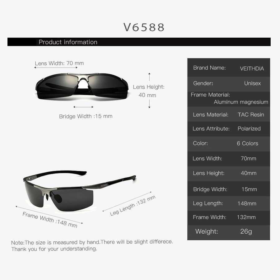 VEITHDIA nowy projekt aluminium magnezu okulary