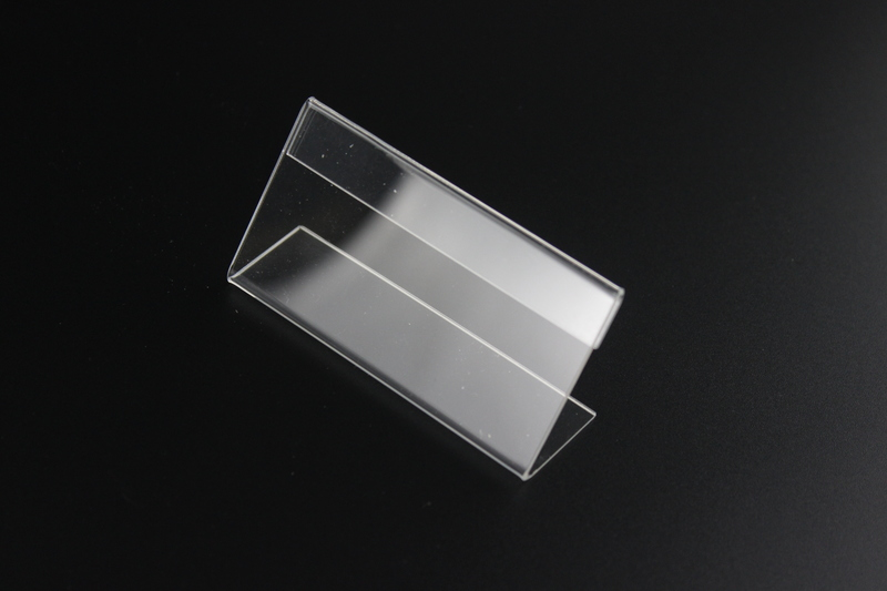 10 4cm 100 pcs Clear Acrylic Sign Holder Price Tag Display Stand Table Name Card Stand