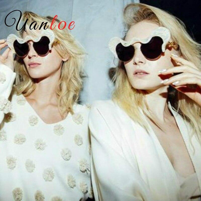 UANLOE 2017 font b Fashion b font Sunglasses font b Women b font Exaggerated Anaglyph Shape