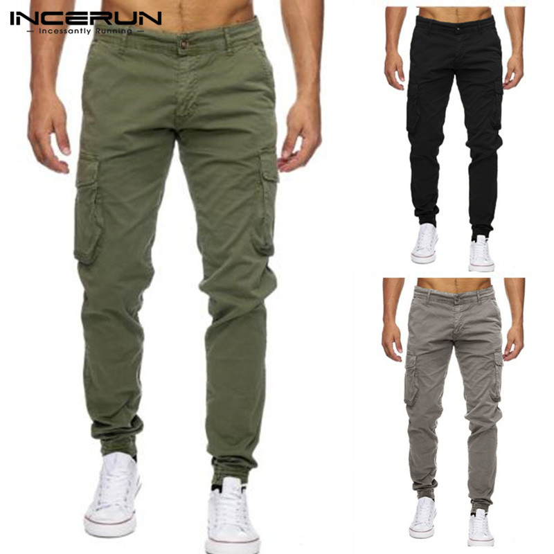 Brand Men Casual Pants Joggers Military Cargo Pants Loose Fitness Sweatpants Workouts Trousers Multi-Pockets Male Plus Size 40