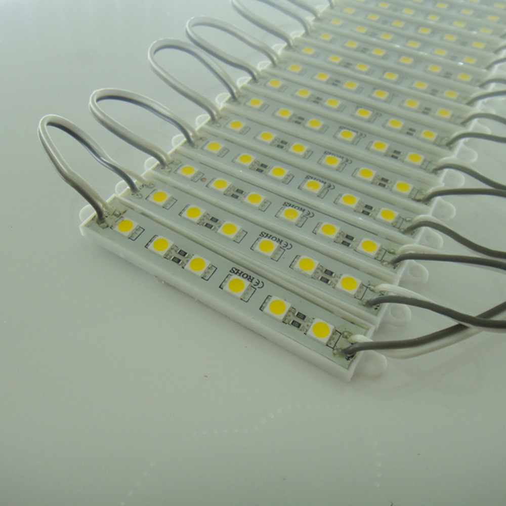 1000 шт. 5050 SMD 6 светодиодов светодиодный модуль чистый белый Водонепроницаемый реклама лампа DC 12 В для знака букв